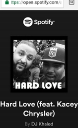 kacey chrysler ft dj khaled Hard Love